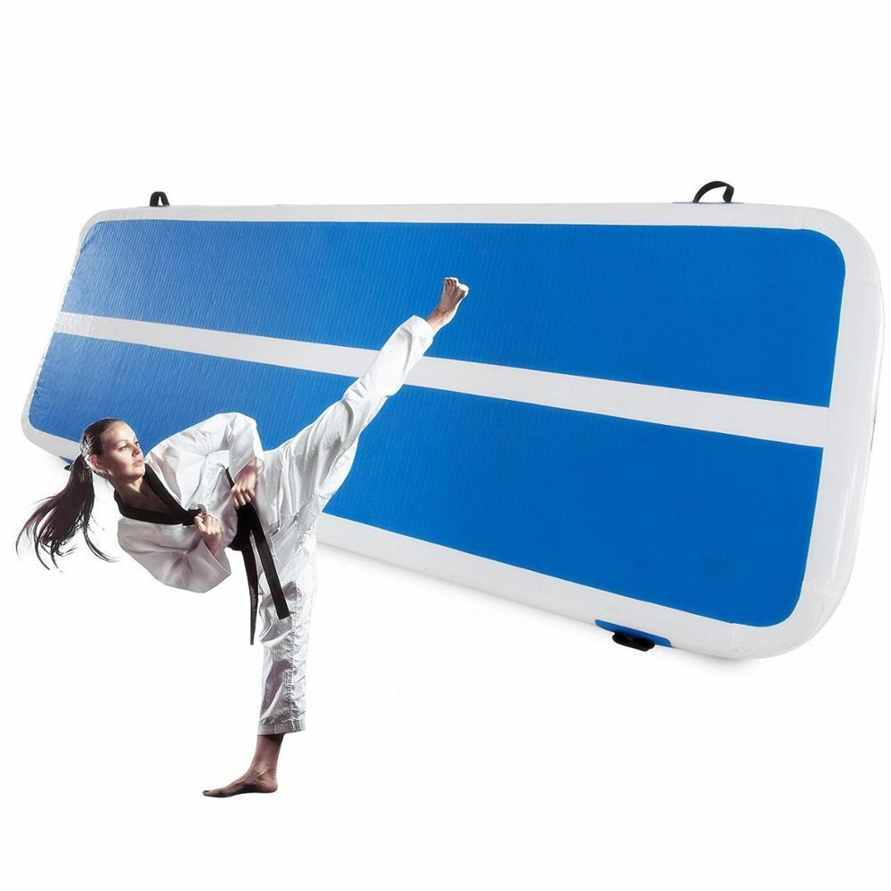 19.7ft gonflable 6 m Air piste professionnel tapis de culbuteur pour gymnastique Airtrack tapis de sol avec pompe à Air électrique gratuite