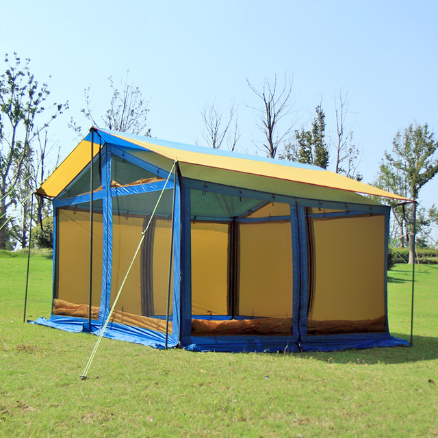 Cheap HIMALAYA Big Tent Camping Tent Awnings Outdoors 5-8 Persons Multiplayer Waterproof for Camping , Hiking ,  Travelling by car