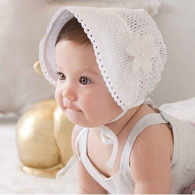 fe255bfa3292 Newest Newborn Baby Girls Princess Hat Cap Cotton Palace Hat Cute Sun Hats