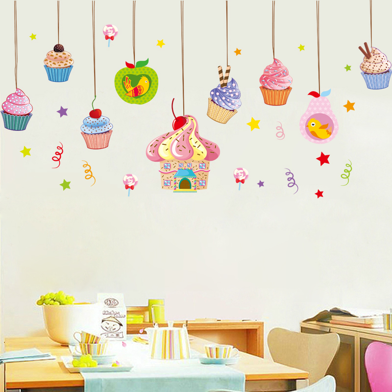 Ice cream cake shop wall sticker children 39 s room nursery for Baby room sticker decoration