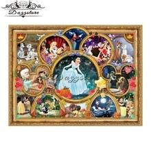 Diamond embroidery diamond mosaic paintings 5d diy painting cross stitch Cartoon princess Childrens room decoration