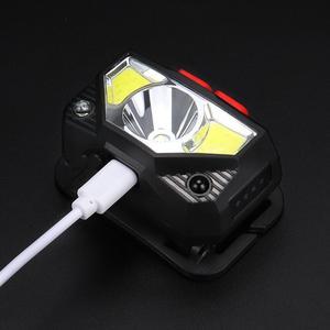 Image 5 - 6000LM モーションセンサー誘導 Led ヘッドライトヘッドランプ充電式内蔵バッテリーヘッドトーチランプ赤集魚灯