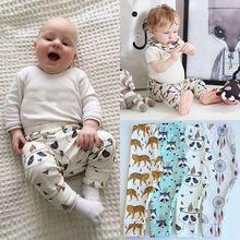 Детские штаны из ПП для маленьких мальчиков и девочек с животным узором; Свободные повседневные леггинсы; шаровары; весенне-осенняя одежда