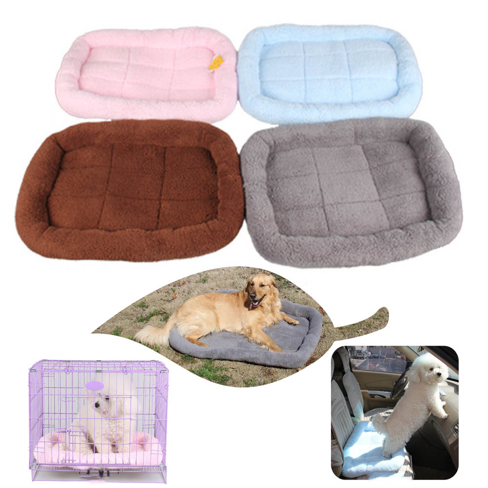Pet Bed Cushion Mat Dog Cat Kennel Crate Cozy Soft House Car Pad Pets Products Hogard