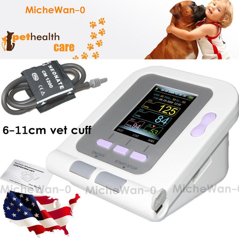 PRCMISEMED Veterinary Sensor Handheld Pulse Oximeter Temperature Probe Pulse Oximeter Rate SPO2 Portable Handheld CMS60C Monito