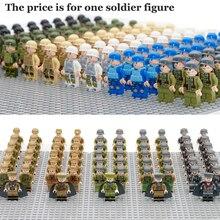 Única Venda Militar Do Exército Figuras Compatível LegoINGly WW2 Soldado Com Arma Arma Segunda Guerra Mundial Brinquedo Bloco de Construção de Tijolos Para menino