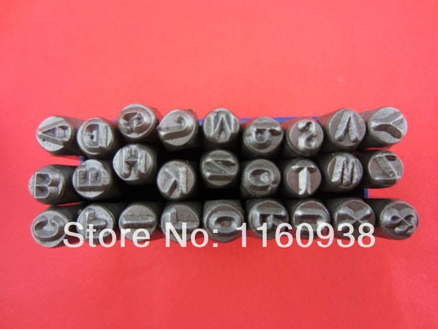 27pcs 5 MM Capital Letter A-Z Punch Stamp Set steel punch tool jewelry Stamp