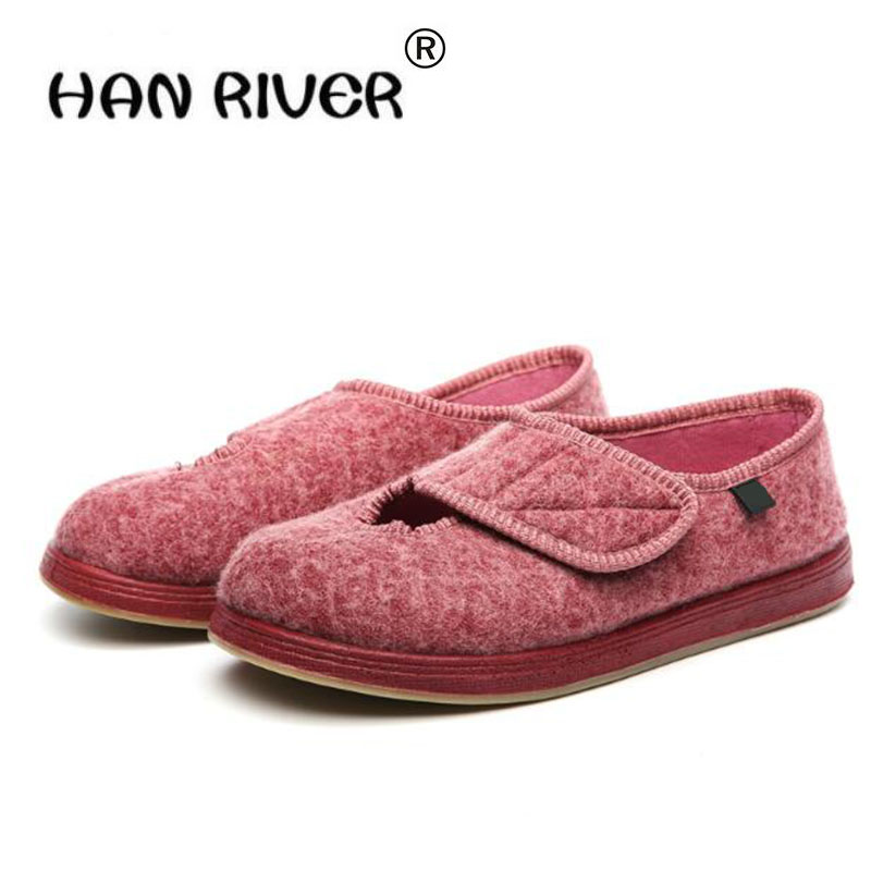 2018 spring autumn Women's Comfortable Shoes Front Opening Breathable Flat Shoes Professional diabetes health care shoes 2018 autumn