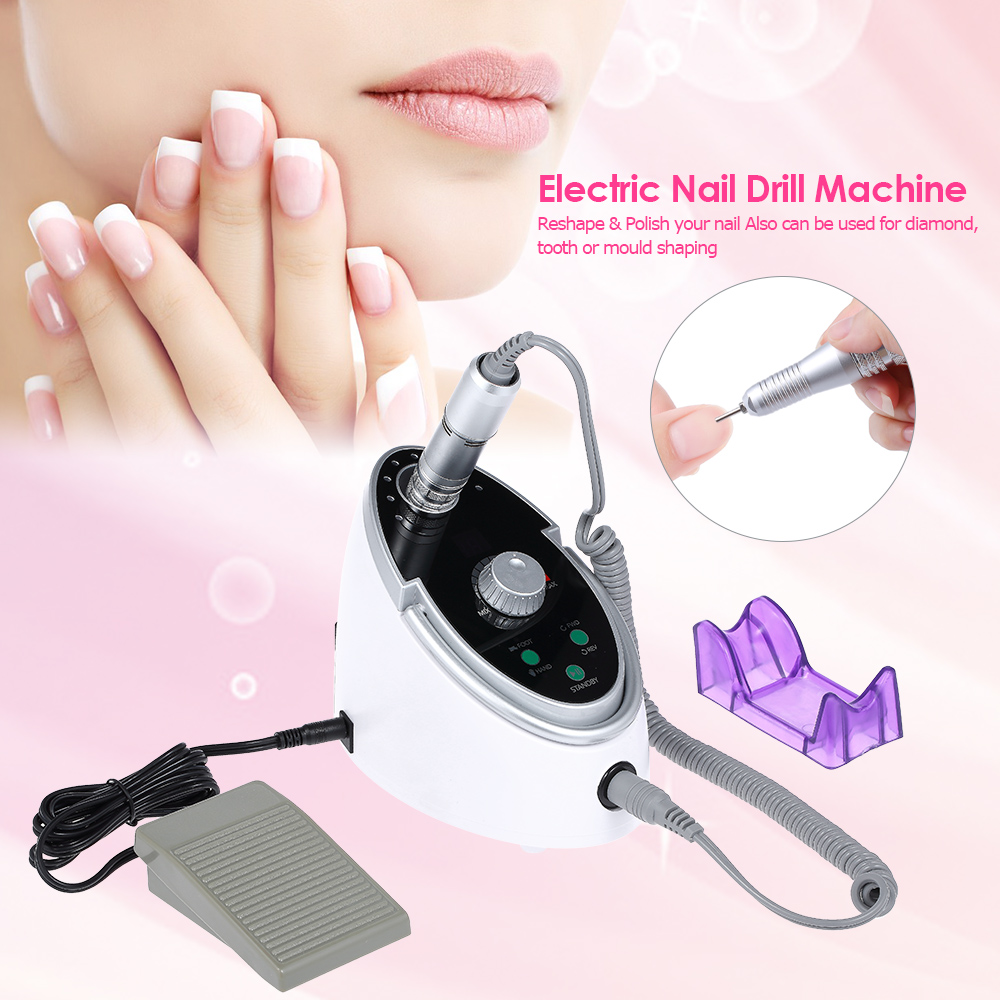 Anself Electric Nail Glazing Machine LED Display Nail Drill Machine Pen Nail Polisher Grind Sanding Bands