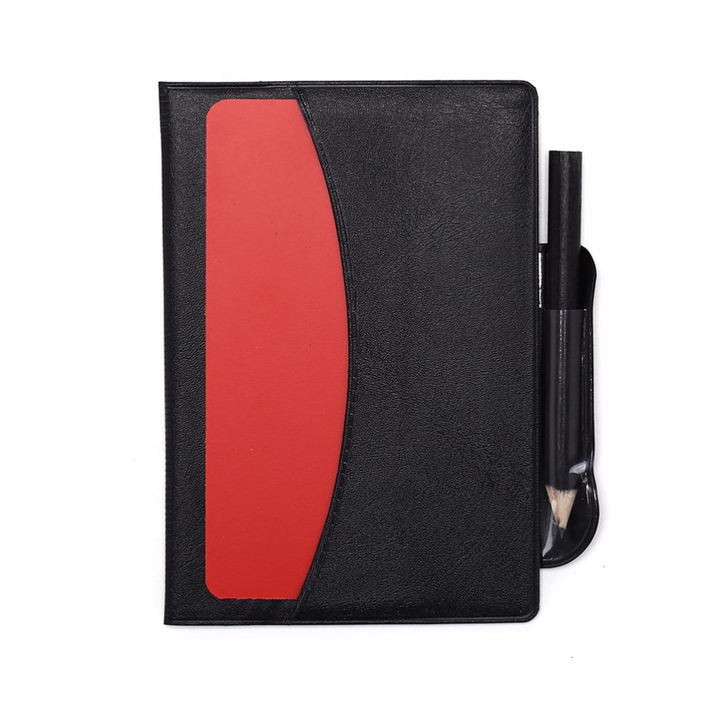 Basketball Referee Red Yellow Card Pencil Sports Notebook Personalized Sport Match Sheet Set Note Notebook
