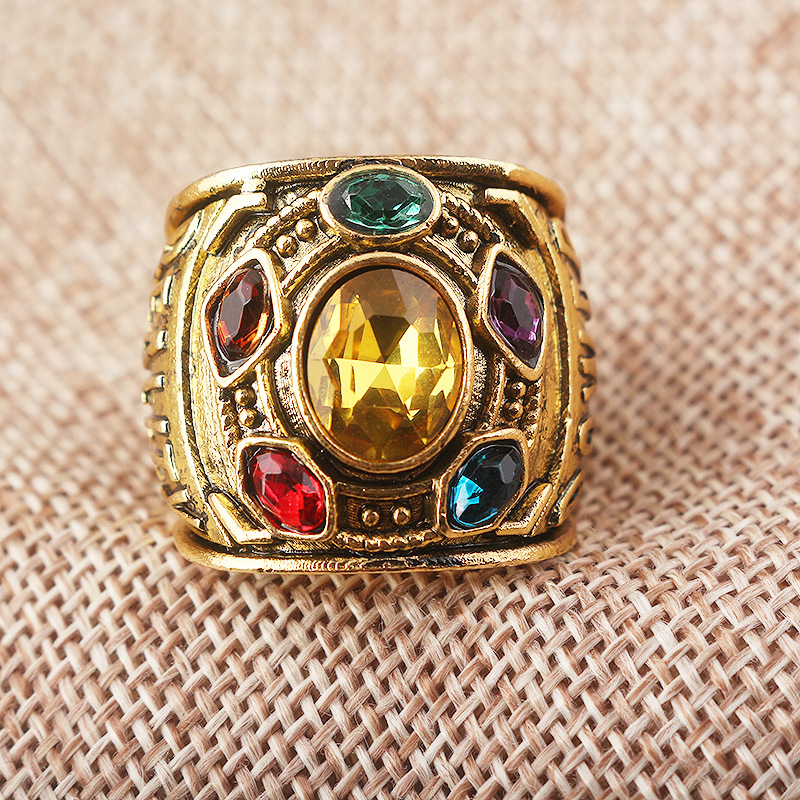 Avengers 3 Infinity War Thanos Gauntlet Class of Infinity Power Ring Jewelry Cosplay Props Gift