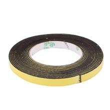Uxcell 1PCS High Quality 12 x 2mm Sponge Single Side Adhesive Shock Resistant Anti-noise Foam Tape 5M Long Black,Yellow Hot Sale