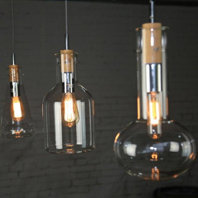 Moderne Loft Amerikanischen Retro Buffet Restaurant Lichter Wohnzimmer  Individualität Kreative Glas Pendelleuchte Kostenloser Versand