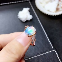 shilovem 925 sterling silver real Natural opal Rings fine Jewelry women trendy wedding new open wholesale 8*10mm mj081009ago shilovem 925 sterling silver natural opal rings fine jewelry women trendy wedding open new wholesale gift mj0810111ago