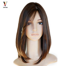 Jewish Wig Full Lace Front Human Hair Wigs Pre Plucked European Virgin Hair With Baby Hair Pre Colored Venvee
