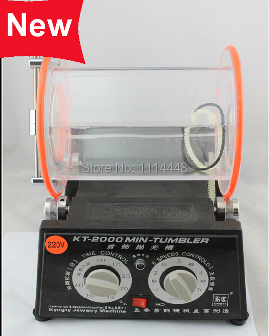 .New 5Kg Mini Rotary Tumbler Jewelry Polisher & Finisher Polishing Machine 1pcs 110v 220v magnetic tumbler jewelry polisher super finishing mt 140b