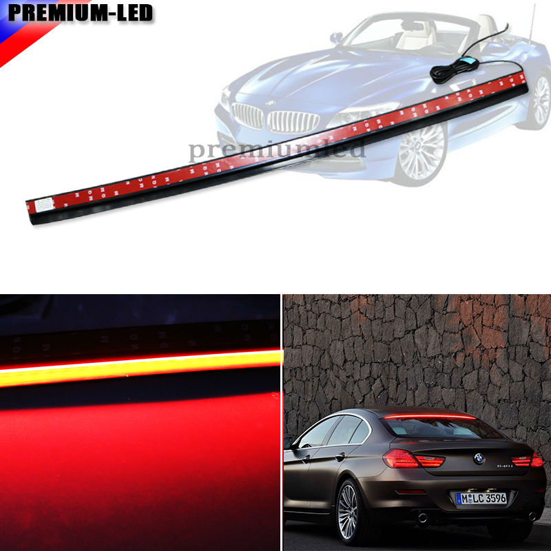 Universal 36-Inch Roofline LED Third Brake Light Kit Above Rear Windshield | For Audi A6 A7 A8 Q7 For BMW 6 Series, Tesla Style 31x12x3 inch universal turbo fmic intercooler 3 inch piping kit toyota supra mkiii mk3 7mgte
