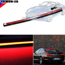 Universal 36-Inch Roofline LED Third Brake Light Kit Above Rear Windshield | For Audi A6 A7 A8 Q7 For BMW 6 Series, Tesla Style
