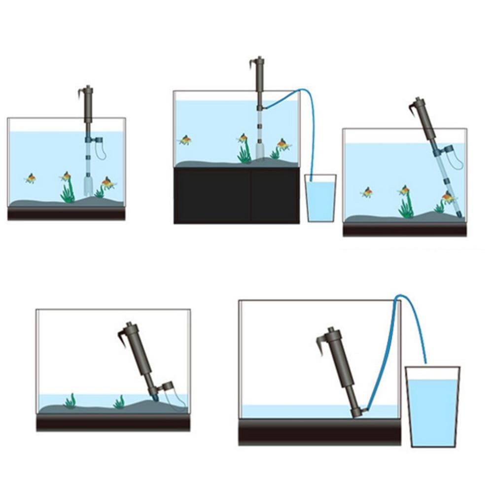 Zhiyang Батарея батареях складной аквариум очиститель Электрический песок вода для стирки устройство смены насос фильтр для аквариума