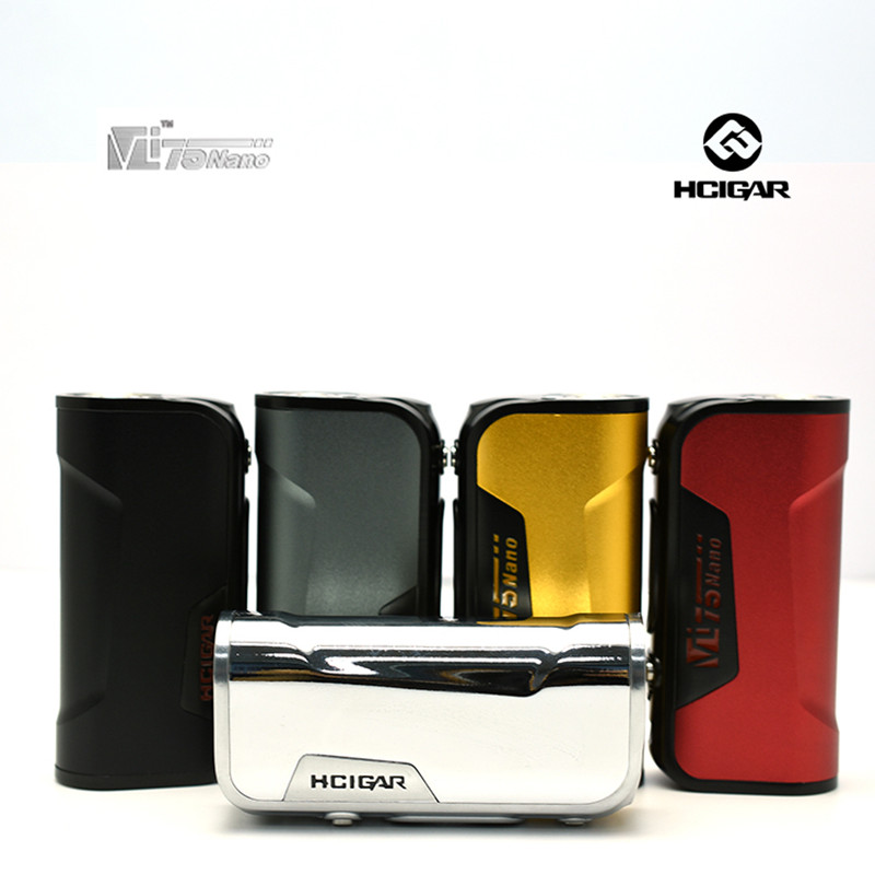 100% Original HCigar VT75 nano DNA75 chips TC Box Mod e-cigarettes Vape Mods Body single 18650 mini box mod