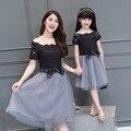 Combinação de roupas mãe e filha Matching roupas de família família mãe e filha Matching roupas família vestido DR75