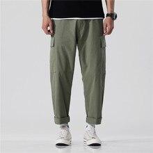 Dei jeans degli uomini di primavera e l'estate di stile di tuta Nove-cent pantaloni casual Hip hop sciolto