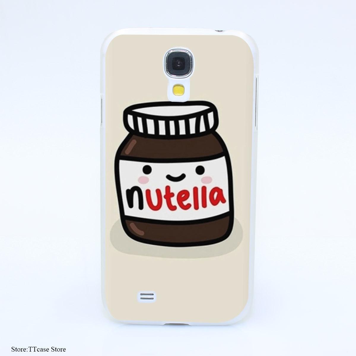 2544CA Nutella design Hard Transparent cheap Case Cover for Galaxy S2 S3 S4 S5 & Mini S6 S7 & edge Plus