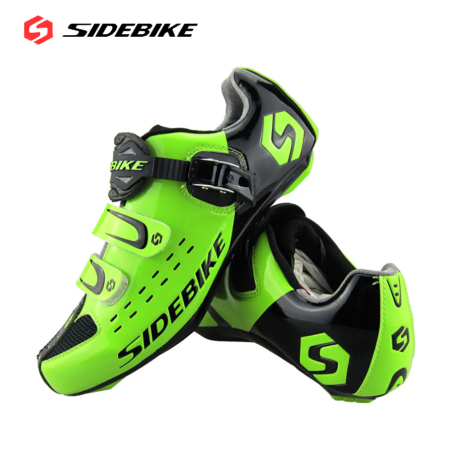 Sidebike Mens Road Cycling Shoes Breathable Road Bicycle Bike Shoes Black Green 4 Color Self-locking Zapatillas Ciclismo 2016 sidebike mens road cycling shoes breathable road bicycle bike shoes black green 4 color self locking zapatillas ciclismo 2016