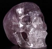 Huge 5.2 AMETHYST Crystal Skull,Super Realistic,Crystal Healing, #358