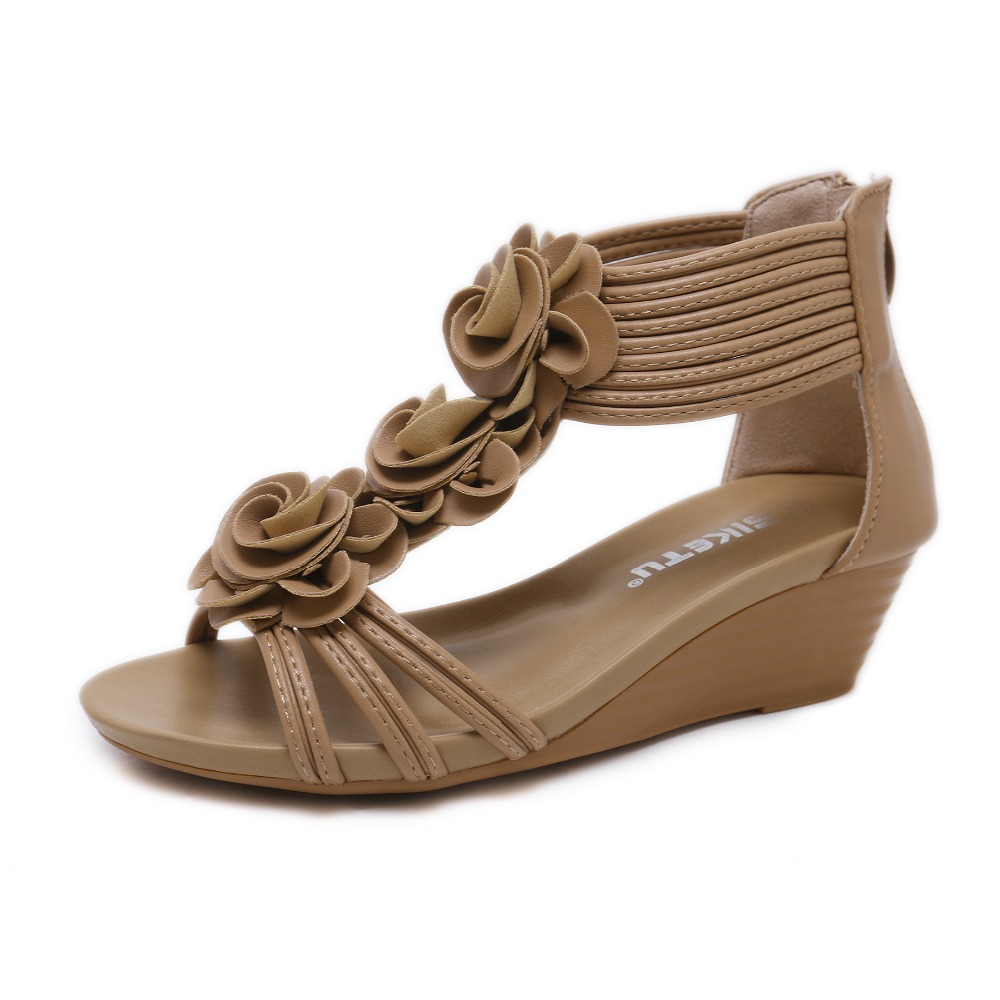 LEMAI Summer new women fashion sandals sweet slope with comfortable Roman gladiator sandals woman shoes size 35-42LEMAI Summer new women fashion sandals sweet slope with comfortable Roman gladiator sandals woman shoes size 35-42