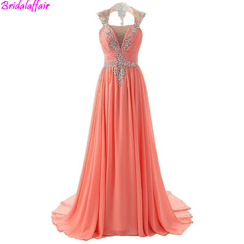 Robe De Soiree Dubai Evening   Dresses   Long 2019 Square Gorgeous Crystals Beaded Sequined Chiffon   Prom     Dress   plus size tulle   dress