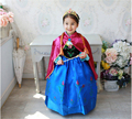 Baby Girl Anna Princess Dress with Red Cape Kids Girls Cartoon Cosplay Dresses Children Girls Party Dresses Christmas Costume