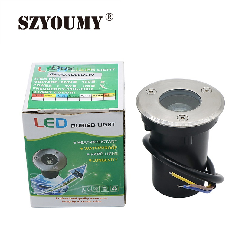 Led Underground Lamps Independent Szyoumy White/warm White/green/red/blue Waterproof 12v Dc Outdoor Garden Path Floor 1w Underground Lamps Buried Yard Lamp Buy Now Lights & Lighting