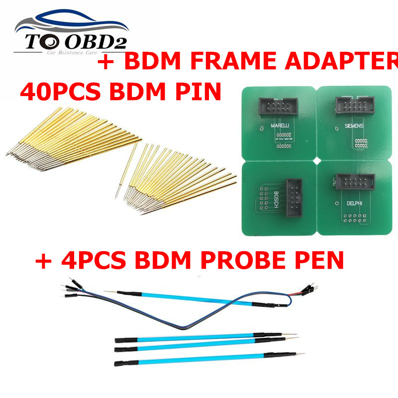 Car ECU Chip Tool BDM Frame Pin For 40pcs Needles .LED BDM FRAME 4pcs Probe Pens Best For KESS/KTAG/KTM/Fgtech/BDM100