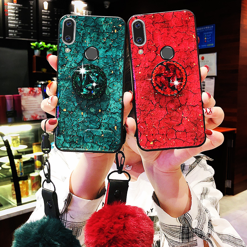For Huawei Honor 8X Case Glitter Diamond Soft Cover For Huawei P Smart 2019 Mate 20 Pro Mate 20 10 Lite Honor 8C Y9 2019 Cases(China)