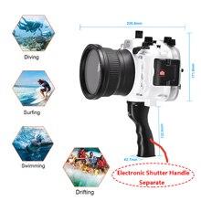 Seafrogs A7 II Pro 40m/130ft Underwater Waterproof Housing Case For Sony A7 II A7R II A7S II Support 28-70mm lens w/ Handle