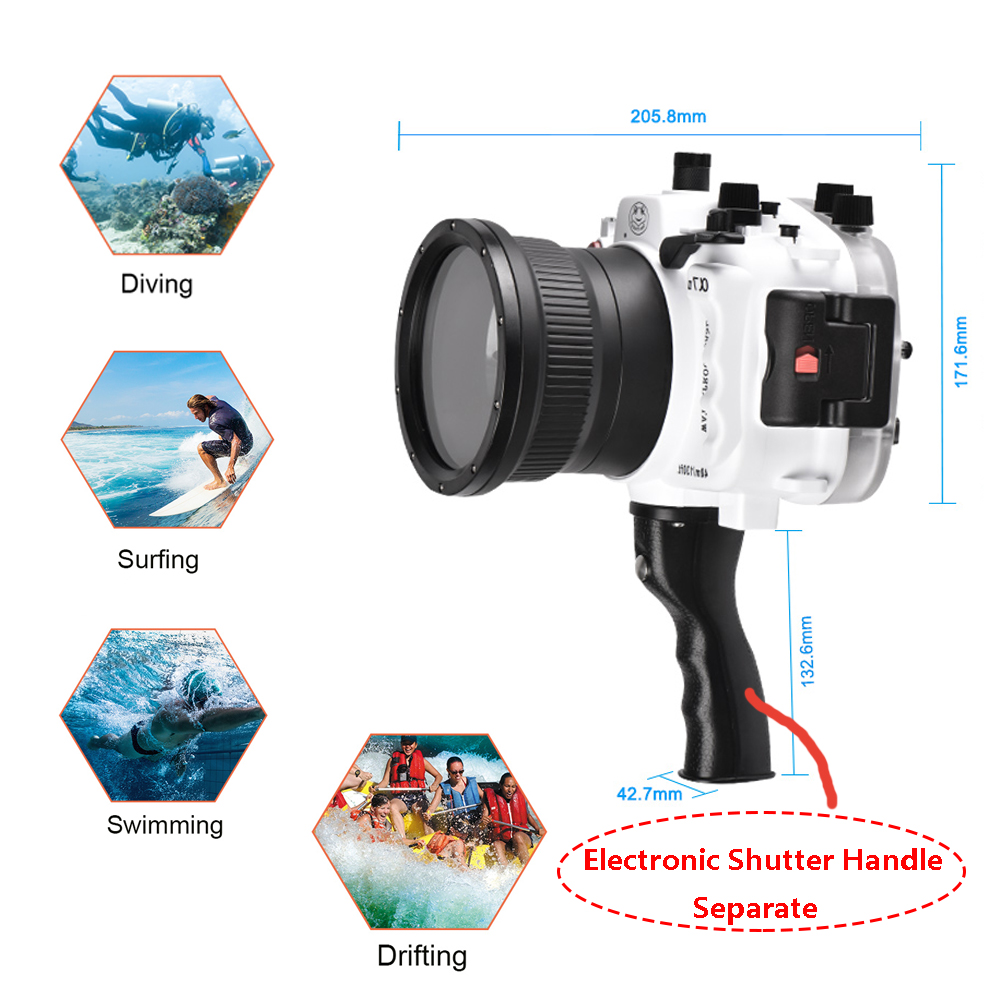 Navitech Waterproof Underwater Housing Camera Dry Bag Case Compatible with The Pentax K-3 SLR Camera