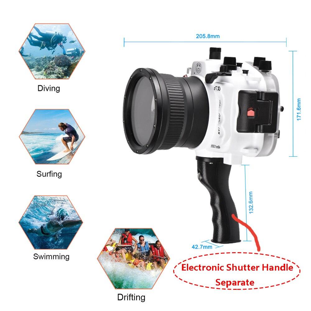 Seafrogs a7 ii pro 40m/130ft subaquática impermeável habitação caso para sony a7 ii a7r ii a7s ii apoio 28-70mm lente com alça