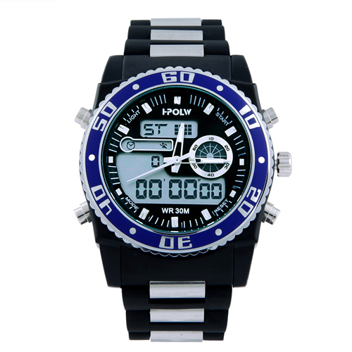 024ddbd7cd8 U.S. Polo Assn. Sport Men s US9490 Analog Digital Watch With Black Silicone  Band-in Quartz Watches from Watches on Aliexpress.com