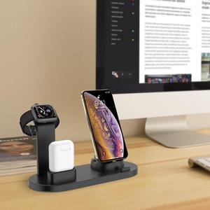 Image 5 - DCAE 3 in 1 di Ricarica Per il iPhone 11 X XR XS Max 8 7 6s 6 USB del Caricatore dock Station Per iWatch di Apple Orologio 5 4 3 2 1 AirPods