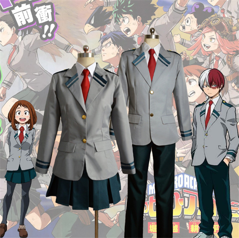 Anime Costumes My Hero Academia Cosplay OCHACO URARAKA Uniform Gym Suit Men/women Adult Top Pants T-Shirt Wig Set