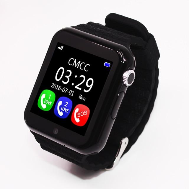 EnohpLX enfants montre intelligente V7K GPS écran tactile caméra SOS localisation dispositif bracelet Tracker enfant coffre-fort enfants montre PK Q90 - 2