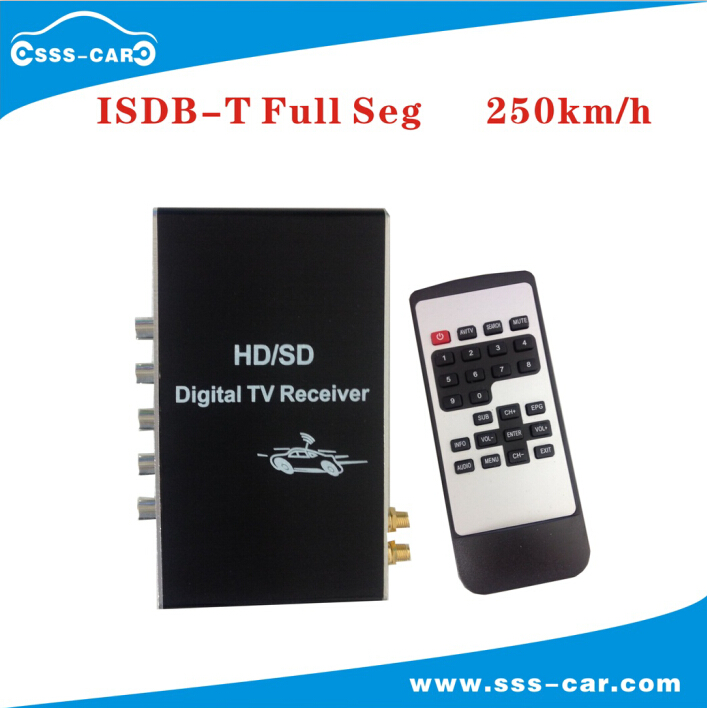 M-389F Car TV Tuner ISDB-T FULL SEG Digital TV BOX Receiver Mini TV Box work in Philippines,South America car auto external high definition full seg isdb t digital tv receiver with 2 tuners 2 antennas car dvd gps dual isdb t tv box
