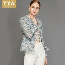 Autumn Classic Tassel Women Jacket Handmade Fashion Tweed Slim Short Coat Female