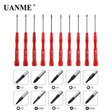 UANME 10 Piece Precision Screwdriver Set For Cell Mobile Phone Samsung Tablet PC Laptop Repair Multi Opening Tools Kit