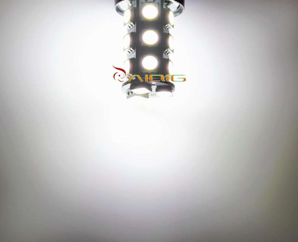 1156 BA15S 18 SMD 5050 빨강, 백색, 노란 LED 차 전구 램프 - 자동차 조명 - 사진 4