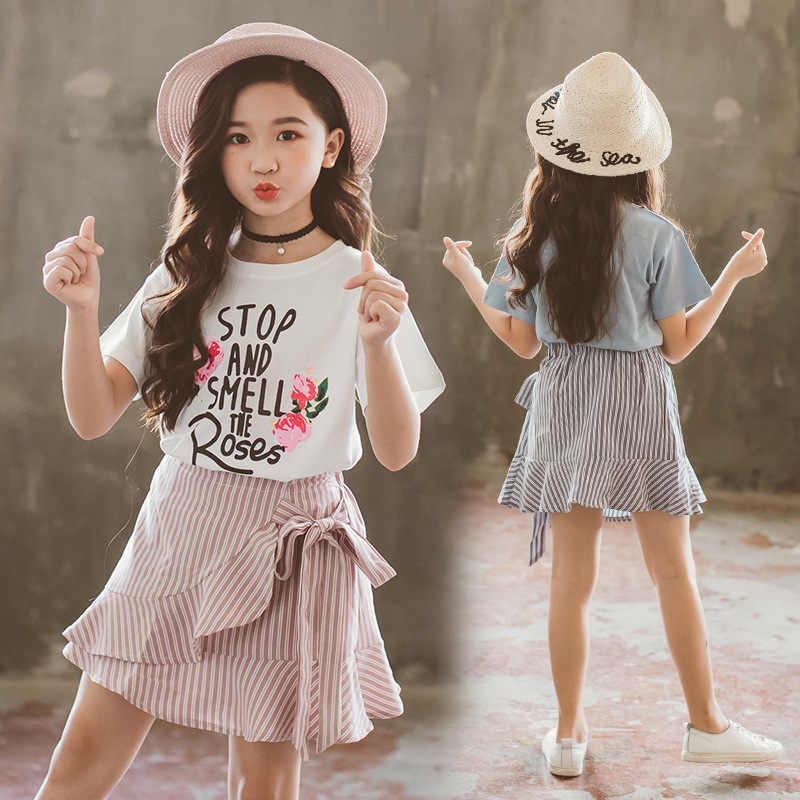 Baby Girl Chiffon T-Shirt+Skorts Toddler Girl Outfits Kids Skirt Sets