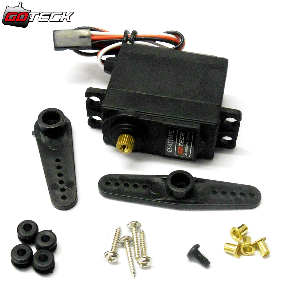 GOTECK GS-5515MG 15kg High Torque Throttle Steering RC Servo Metal Gears