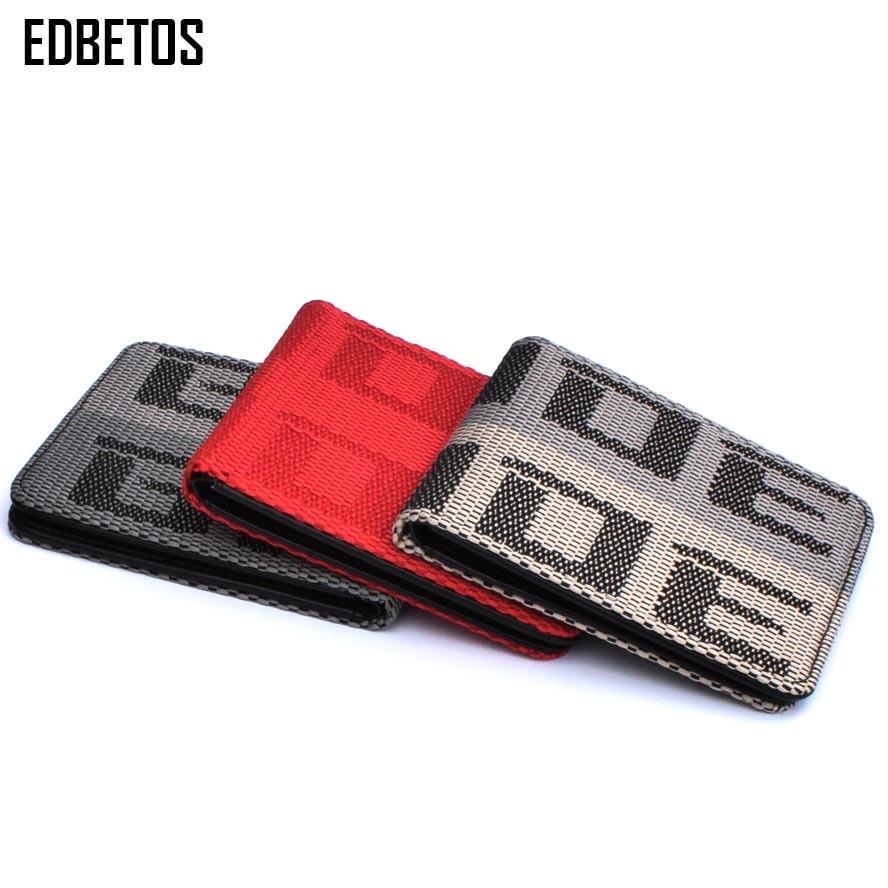EDBETOS BRIDE Wallet Auto Wallet BRIDE Purse JDM VERSION 2 Racing Seat Fabric And Leather Canvas Takatas Wallet Key Case