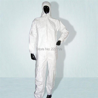 Quality Breathable Membrane Disposable Protective Clothing One Piece Bunny Suit Coverall Painted Clothing Waterproof Oil